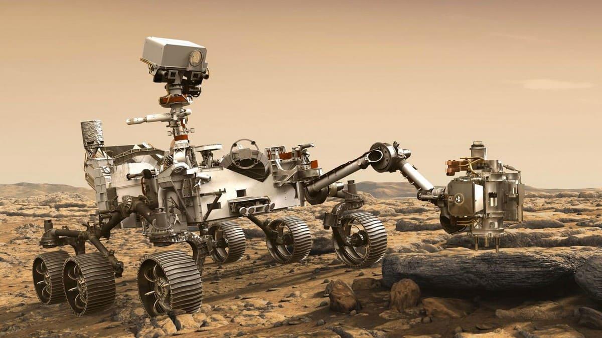 """FIGURA 2 - O """"carrinho"""" de exploração de Marte Perseverance, da NASA"""