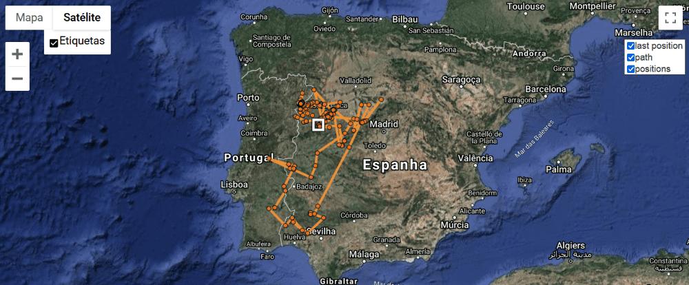 Mapa movimentos abutre-preto_Lechuga_agosto2020_agosto2021